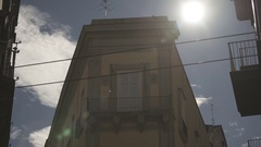 Italian building at summer Stock Footage