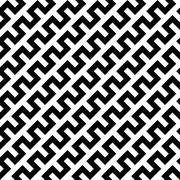 Black zigzag lines in diagonal arrangement. Abstract background geometrical Stock Illustration
