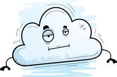 Cartoon Cloud Bored Stock Illustration