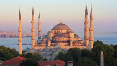 Time Lapse of Blue Mosque on sunset. Sultanahmet Camii Stock Footage