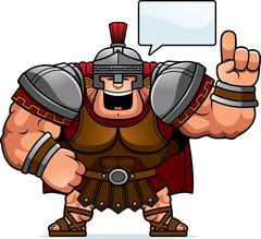 Cartoon Centurion Talking Stock Illustration
