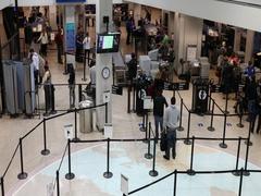 Security entrance TSA Salt Lake City International Airport DCI 4K Stock Footage