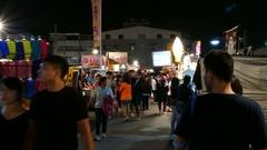 Night market in Tainan, Taiwan Stock Footage