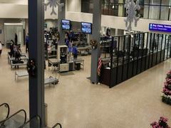 TSA check Salt Lake City international airport DCI 4K Stock Footage