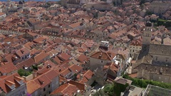 Dubrovnik rooftops aerial city view Stock Footage