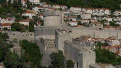 Minceta Tower, Dubrovnik old city walls Stock Footage