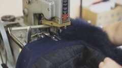 Work on the sewing machine. , tailoring Stock Footage