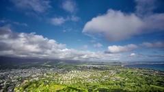 Timelapse of clouds over Kailua, O'ahu, Hawaii Stock Footage