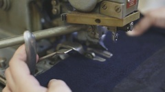 Tailoring close up. macro shot Stock Footage
