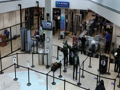 Entrance Security TSA Salt Lake City International Airport DCI 4K Stock Footage