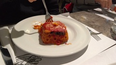 Shot of Sicilian Timbale Stock Footage