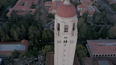 Stanford University Hoover Tower Orb Slow Stock Footage