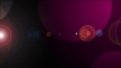 Abstract Bokeh Background pink univers flare Stock Footage