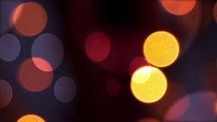 Abstract Bokeh Background golden bubbles, summer lights Stock Footage