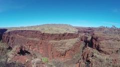 Intense red rock gorge of Karijini NP Stock Footage