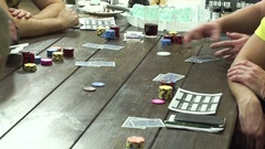 Poker game at the card table Stock Footage