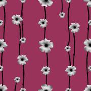 Floral Collage Pattern Stock Illustration