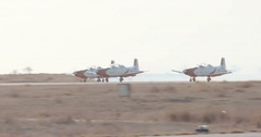 Israeli air force Aerobatics team takeoff during an airshow Stock Footage