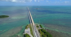 Seven Mile Bridge aerial video prores Stock Footage