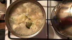 Dumplings cooked in a pot Stock Footage