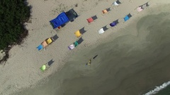 Top View of a Paradise Island Stock Footage