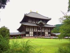 Great Buddha Hall of Todai-ji temple in Nara, Japan Stock Footage