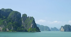Tropical Islands Of Halong Bay Vietnam Stock Footage