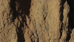 Close up of gigantic termite hills in northern Australia outback Stock Footage