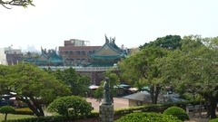 View from Anping Old Fort over square Stock Footage