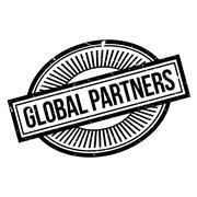 Global Partners rubber stamp Stock Illustration