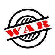 War rubber stamp Stock Illustration