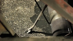 Steel wire rope moving through the pulley Stock Footage
