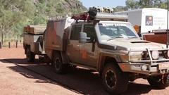 Hema 4x4 vehicle map truck Stock Footage