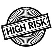 High Risk rubber stamp Stock Illustration