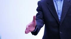 Business partners handshake - men and women - 4 k Stock Footage