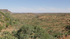 Wide angle of dry Australian outback landscape Stock Footage