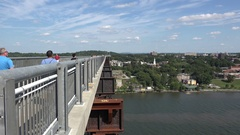 Walkway Over the Hudson in Poughkeepsie, New York, United States. Stock Footage