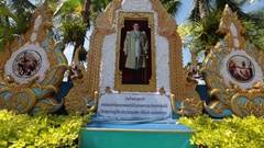 Pattaya, Thailand on November 24 Place of mourning and worship the King Bhumibol Stock Footage