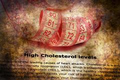 High cholesterol level grunge concept Stock Photos