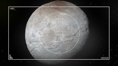 Satellite Camera approaches Pluto Atmosphere Stock Footage