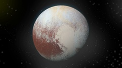Approaching Pluto Atmosphere in space Version 2 Stock Footage