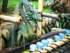 Japanese Cho-Zu with dragon head Stock Footage