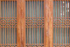 Wooden door korean style in South Korea Kuvituskuvat