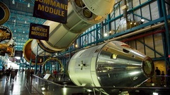 The command module of the Saturn 5 rocket Stock Footage