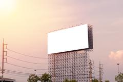 Large Blank billboard ready for new advertisement Stock Photos
