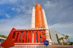 NASA Space Shuttle Atlantis Exhibit Stock Photos