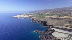 Playa de las Americas in Tenerife, aerial view Stock Footage