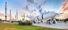Rocket garden at Kennedy Space Center Stock Photos