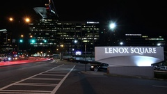 Time lapse shot of Lenox Square Stock Footage