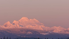 Mt Baker at Sunset Stock Footage
